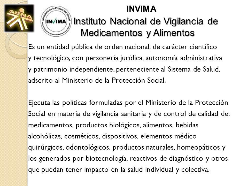 INVIMA Instituto Nacional de Vigilancia de Medicamentos y Alimentos