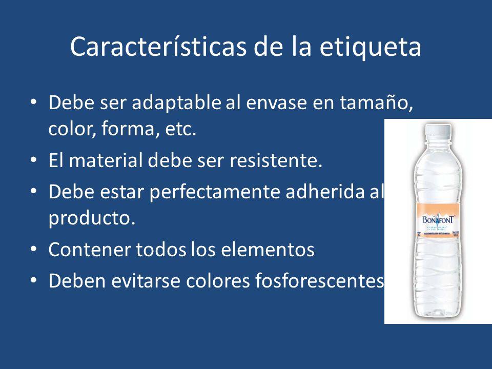 Características de la etiqueta