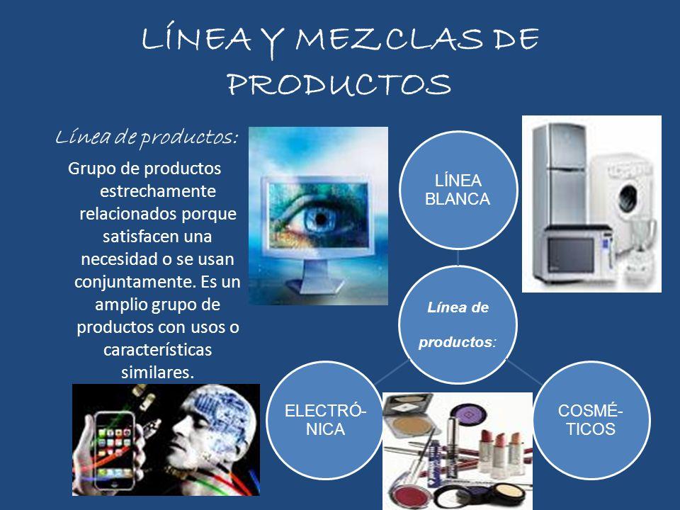LÍNEA Y MEZCLAS DE PRODUCTOS