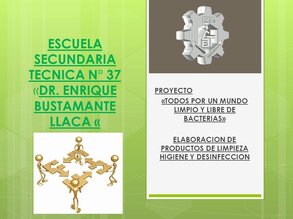 ESCUELA SECUNDARIA TECNICA N° 37 «DR. ENRIQUE BUSTAMANTE LLACA «