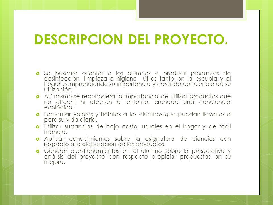 DESCRIPCION DEL PROYECTO.