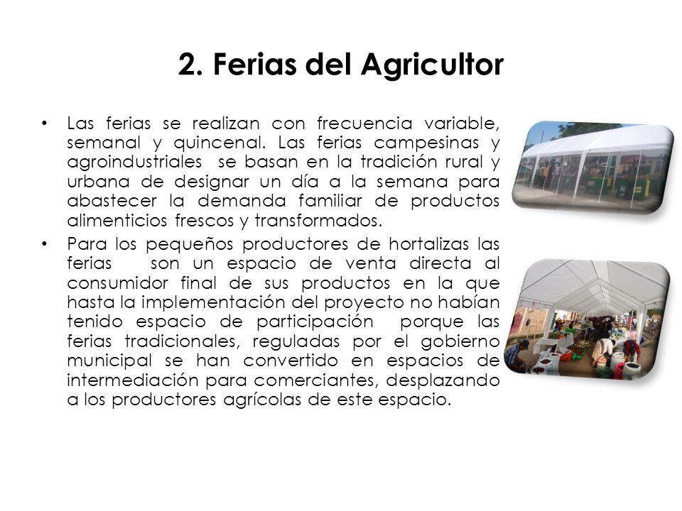 2. Ferias del Agricultor