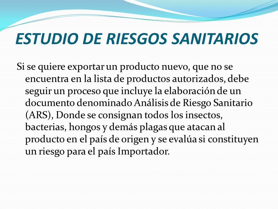 ESTUDIO DE RIESGOS SANITARIOS