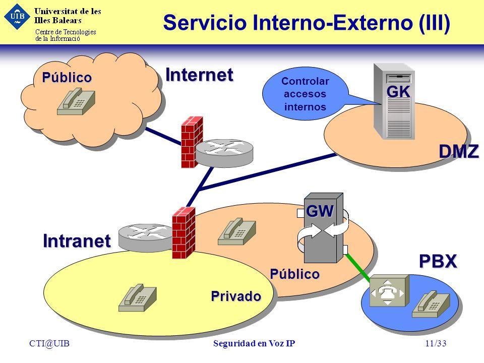Servicio Interno-Externo (III)