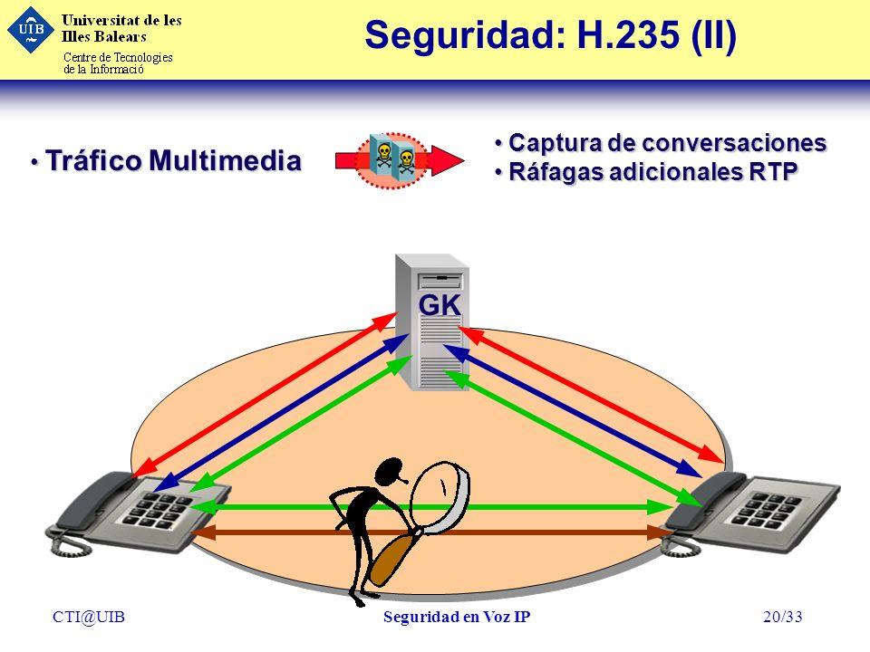 Seguridad: H.235 (II) GK Captura de conversaciones