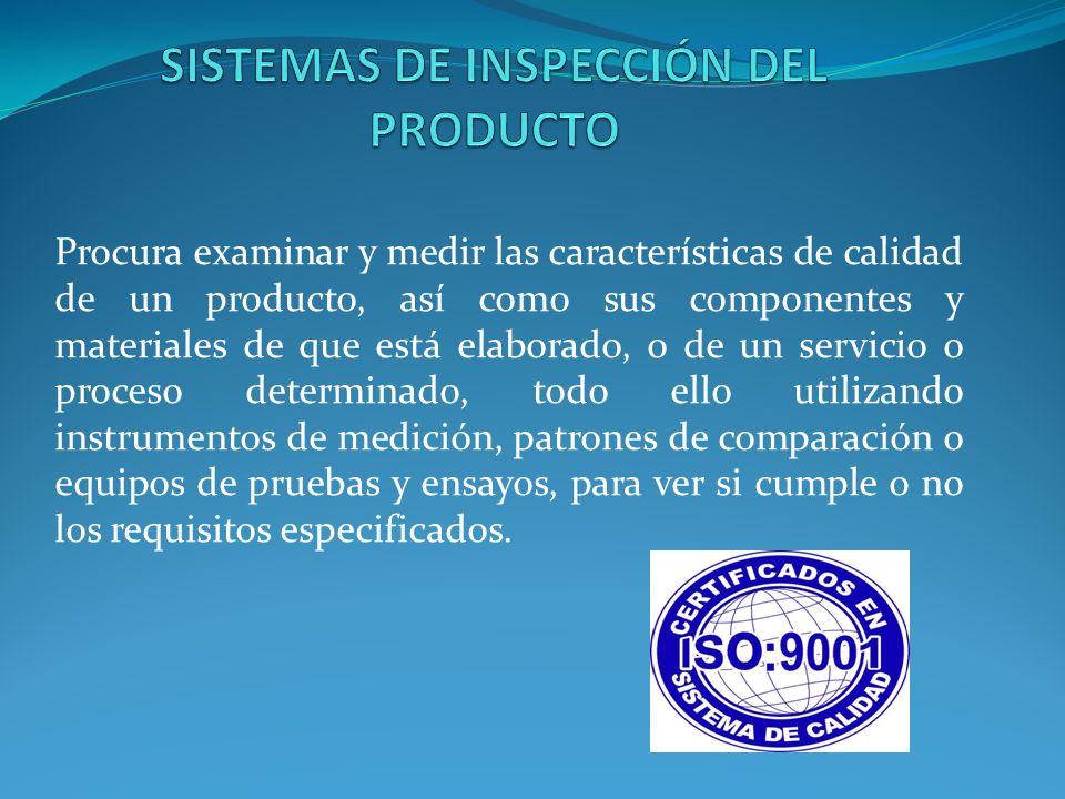 SISTEMAS DE INSPECCIÓN DEL PRODUCTO