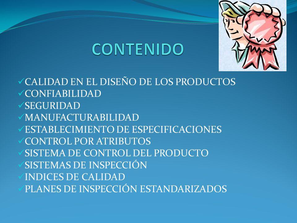 CONTENIDO CALIDAD EN EL DISEÑO DE LOS PRODUCTOS CONFIABILIDAD