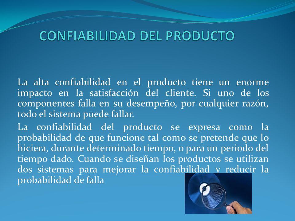 CONFIABILIDAD DEL PRODUCTO