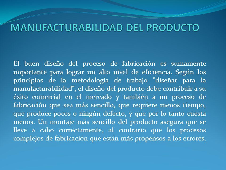 MANUFACTURABILIDAD DEL PRODUCTO