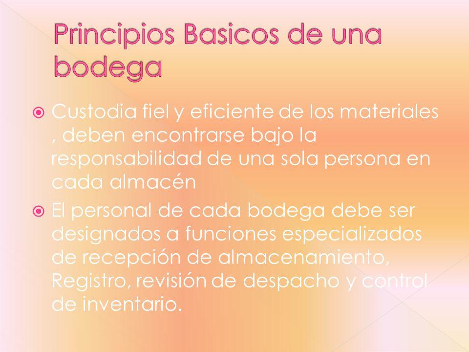 Principios Basicos de una bodega