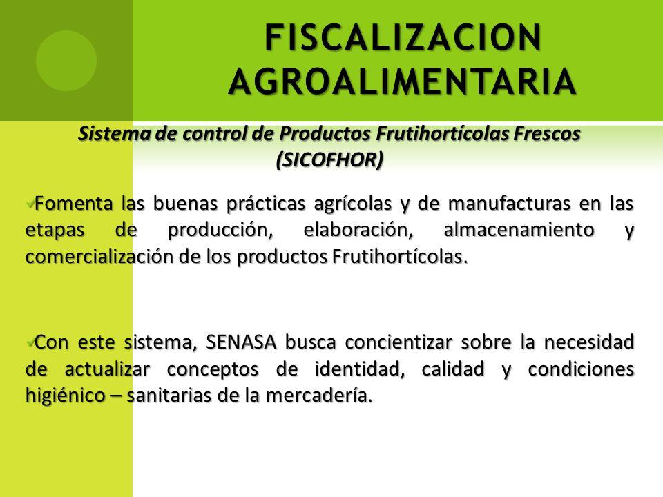 FISCALIZACION AGROALIMENTARIA