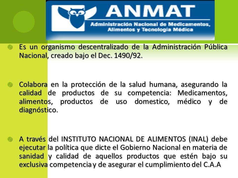 Es un organismo descentralizado de la Administración Pública Nacional, creado bajo el Dec. 1490/92.