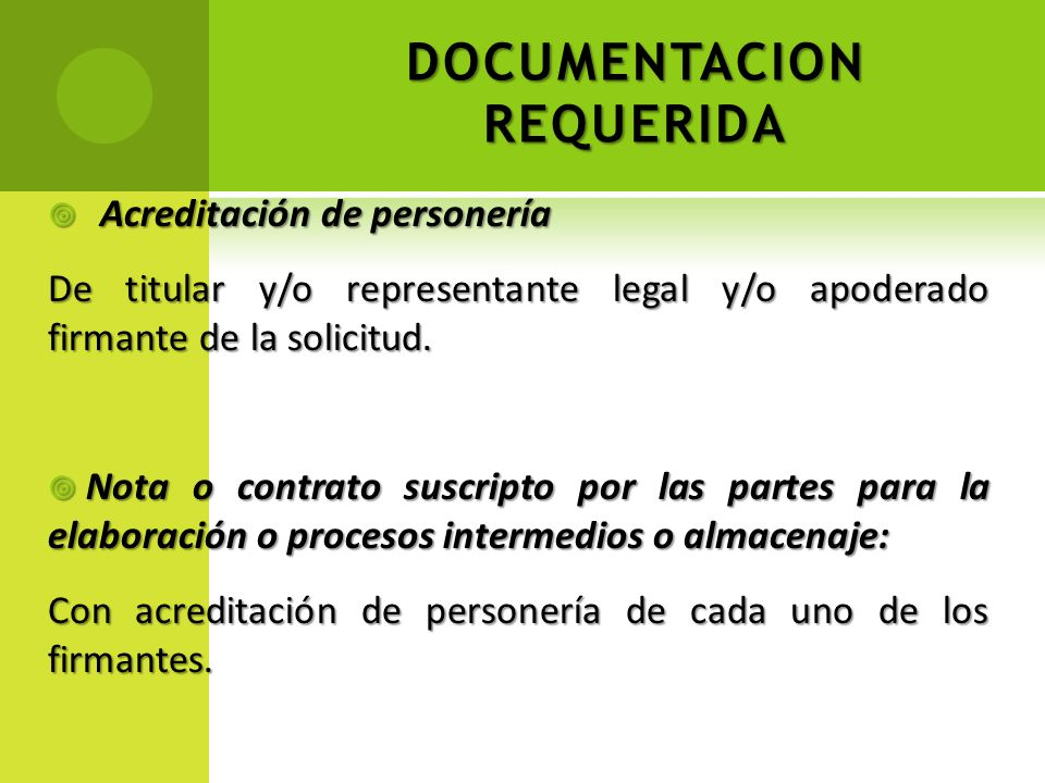 DOCUMENTACION REQUERIDA