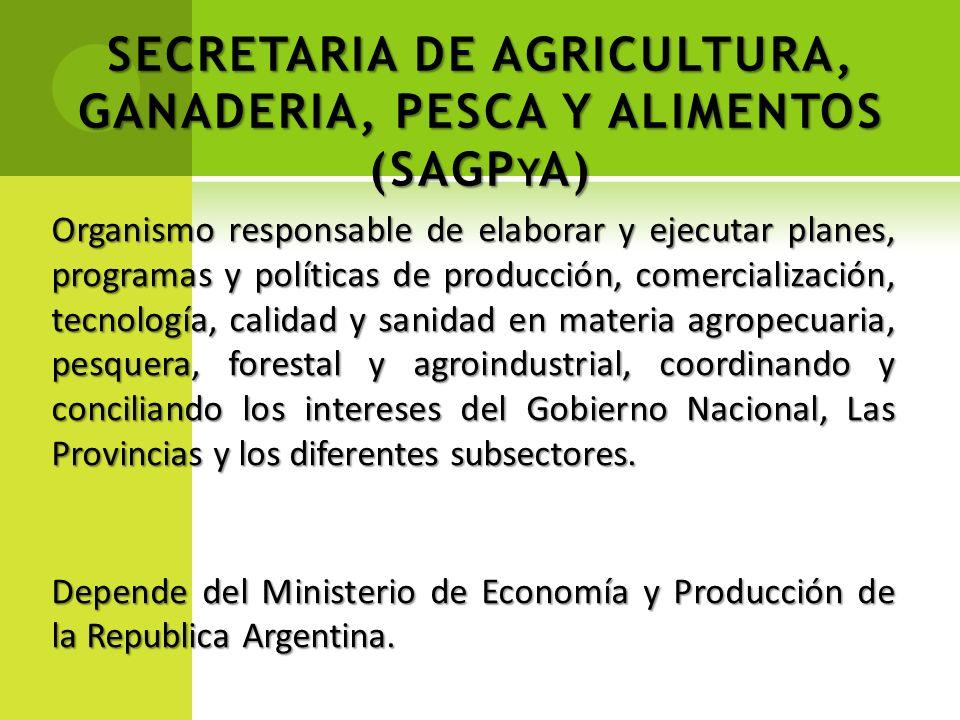 SECRETARIA DE AGRICULTURA, GANADERIA, PESCA Y ALIMENTOS (SAGPyA)