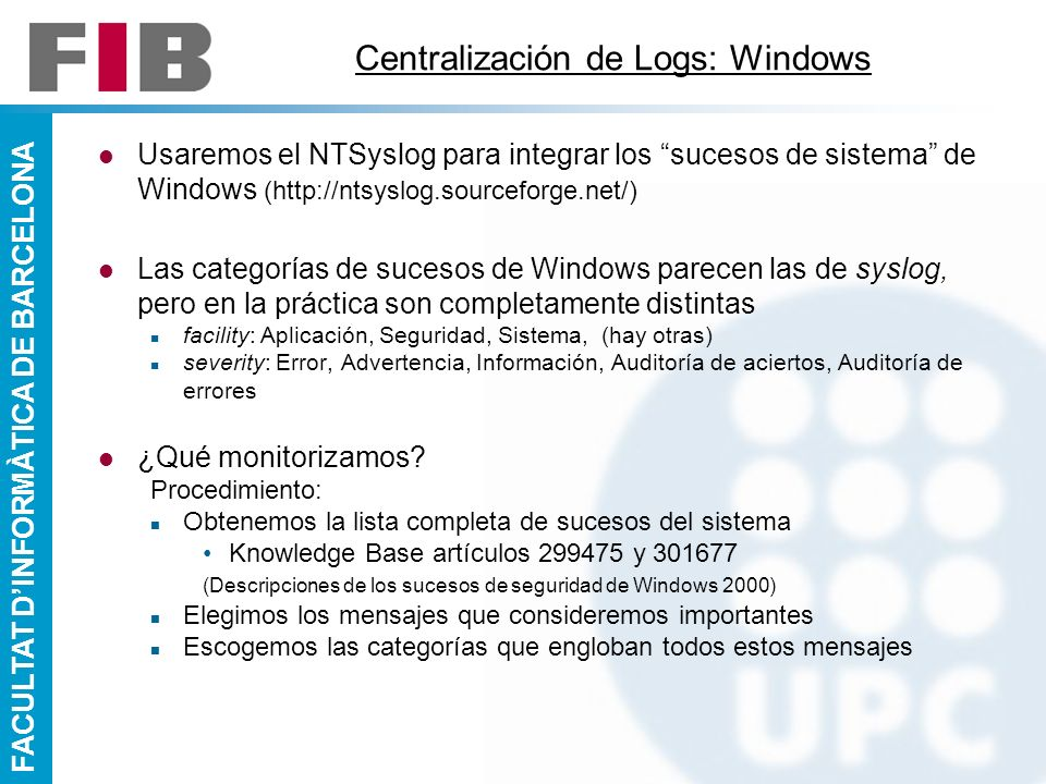 Centralización de Logs: Windows