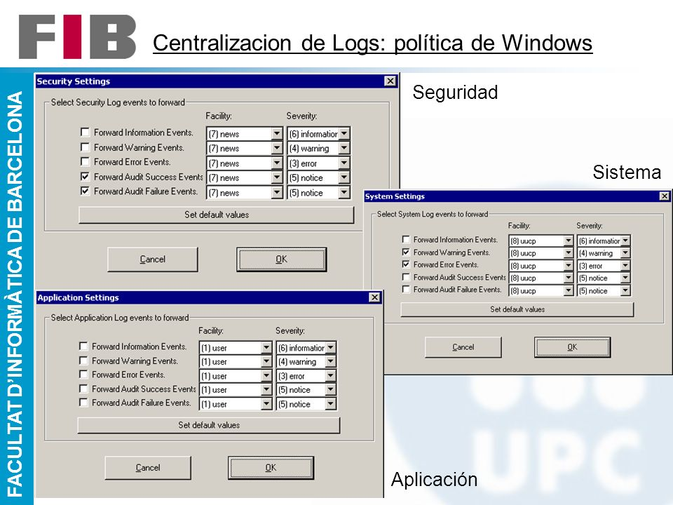 Centralizacion de Logs: política de Windows