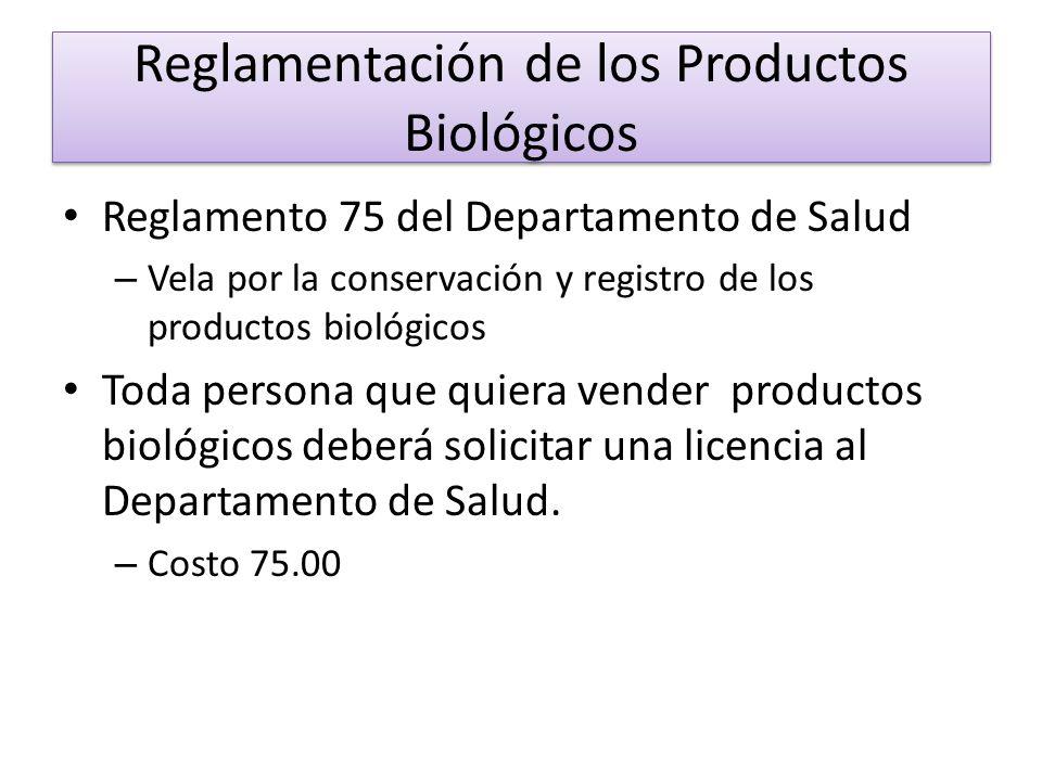 Reglamentación de los Productos Biológicos