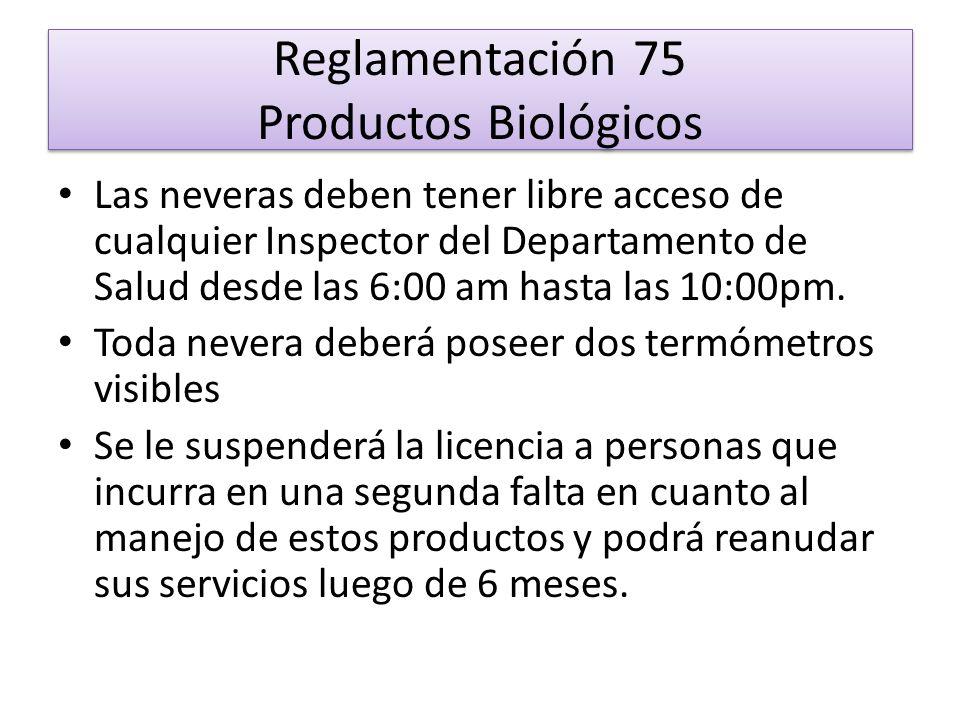 Reglamentación 75 Productos Biológicos