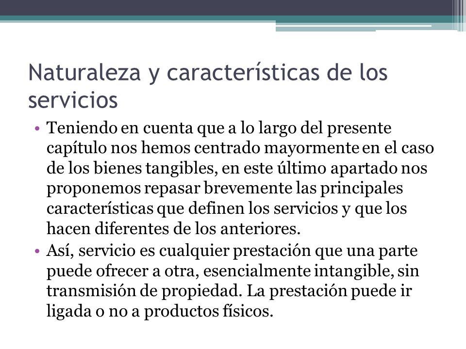 Naturaleza y características de los servicios