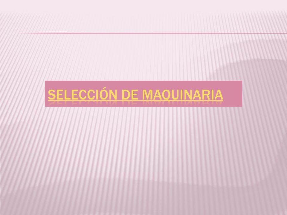 Selección de Maquinaria