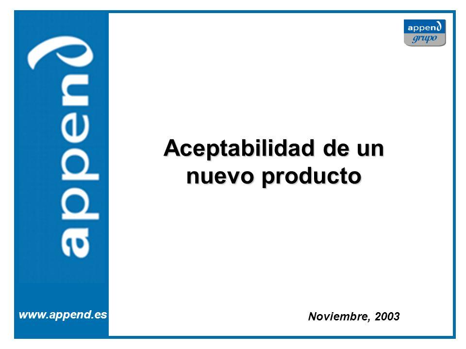 Aceptabilidad de un nuevo producto