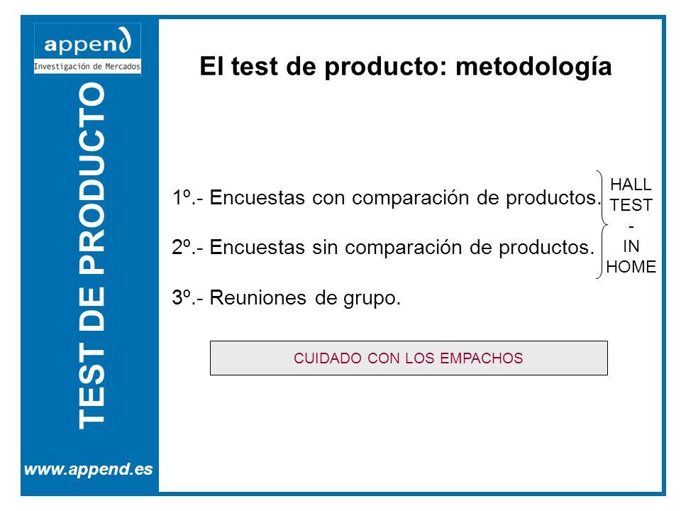 El test de producto: metodología