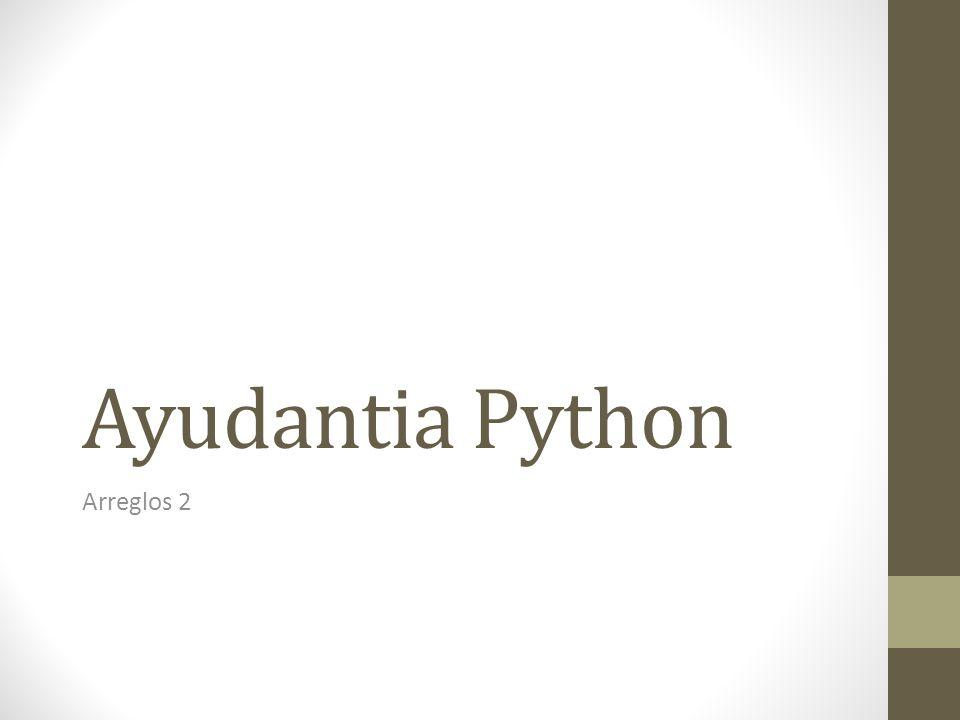 Ayudantia Python Arreglos 2