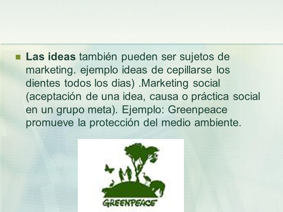 Las ideas también pueden ser sujetos de marketing