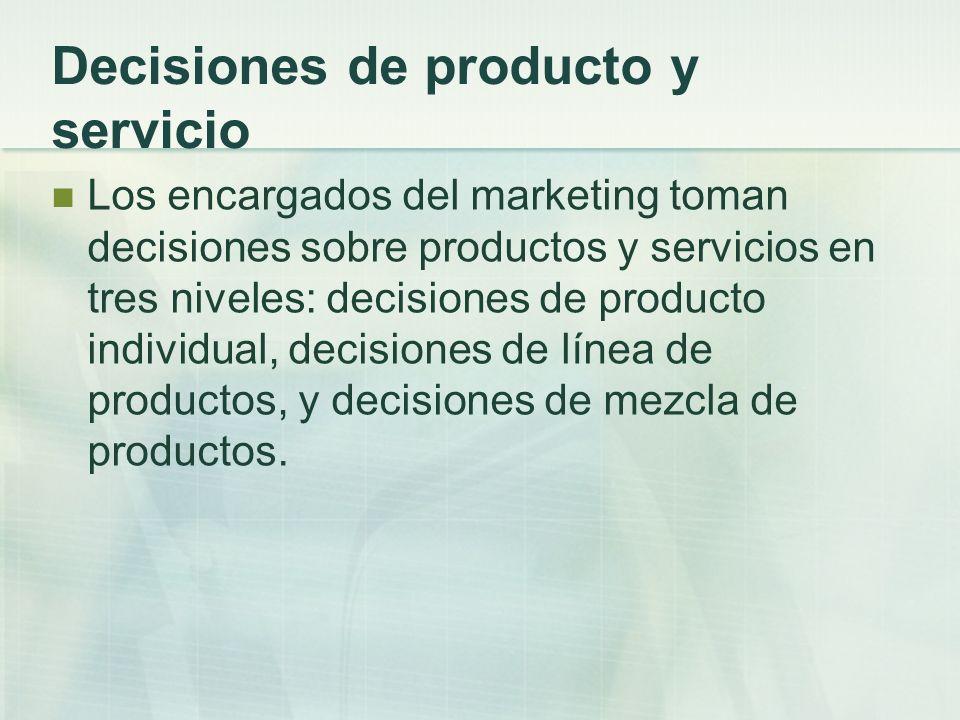 Decisiones de producto y servicio