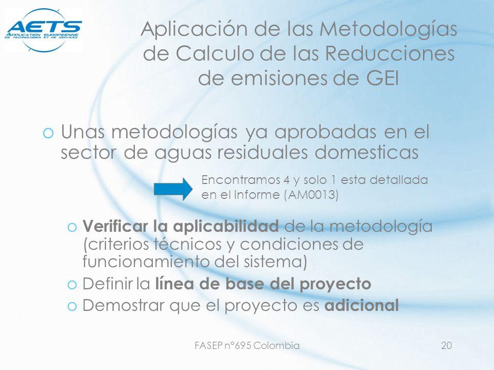 Aplicación de las Metodologías de Calculo de las Reducciones de emisiones de GEI