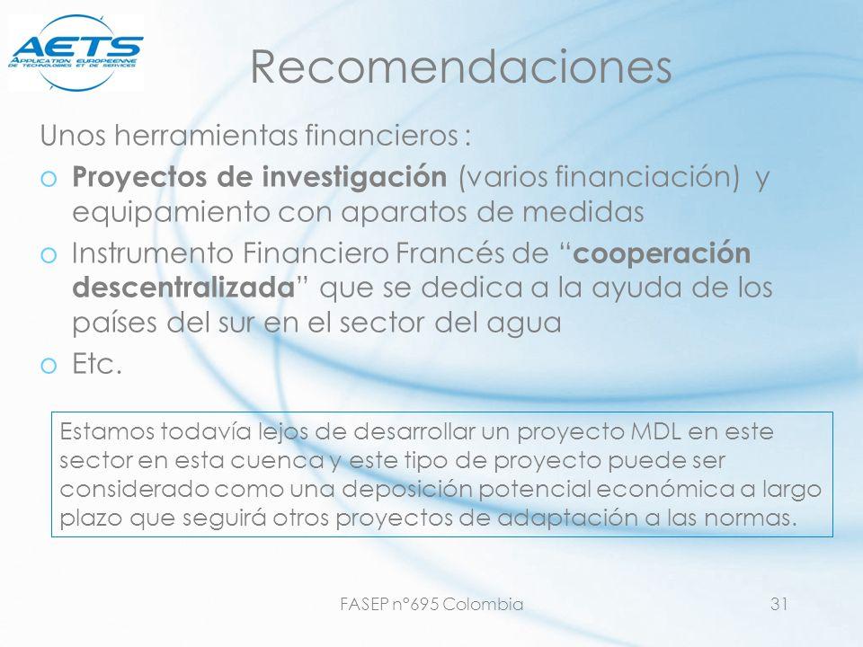 Recomendaciones Unos herramientas financieros :
