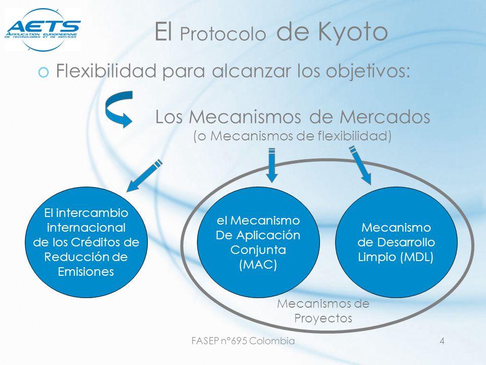 El Protocolo de Kyoto Flexibilidad para alcanzar los objetivos: