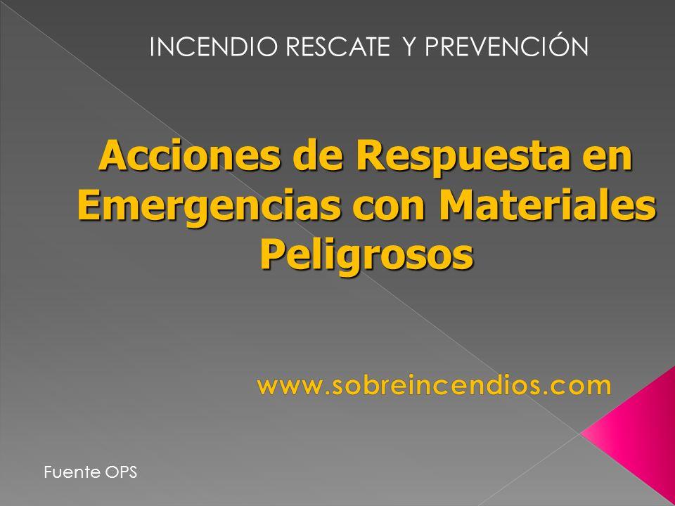 Acciones de Respuesta en Emergencias con Materiales Peligrosos