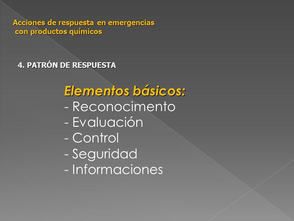 Elementos básicos: - Reconocimento - Evaluación - Control - Seguridad