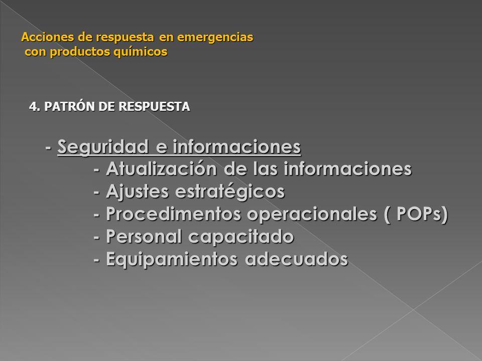 - Seguridad e informaciones - Atualización de las informaciones