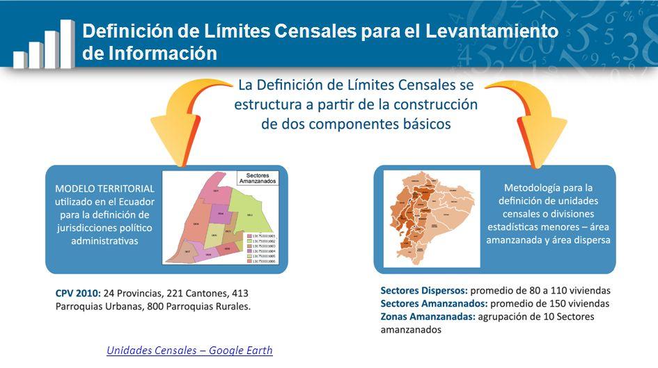 Definición de Límites Censales para el Levantamiento de Información