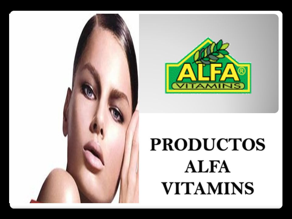 PRODUCTOS ALFA VITAMINS