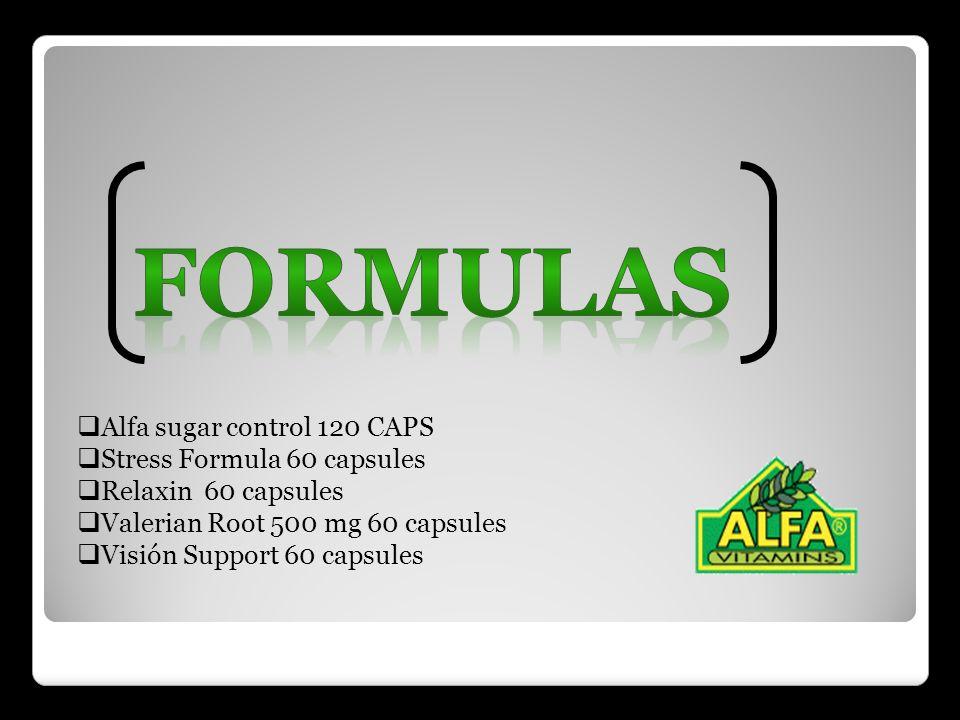 Formulas Alfa sugar control 120 CAPS Stress Formula 60 capsules