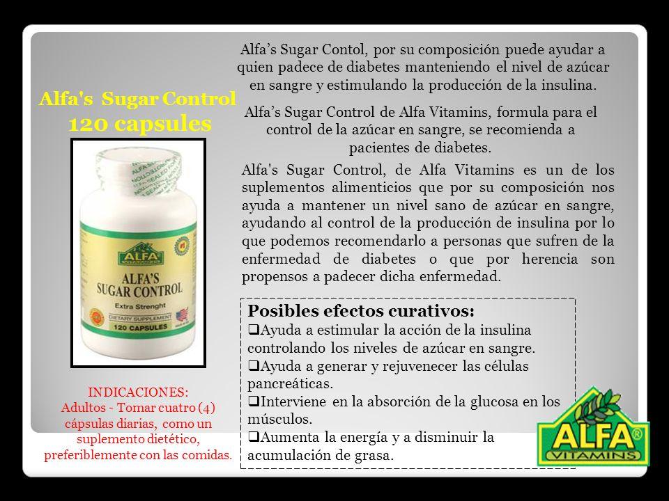 120 capsules Alfa s Sugar Control Posibles efectos curativos: