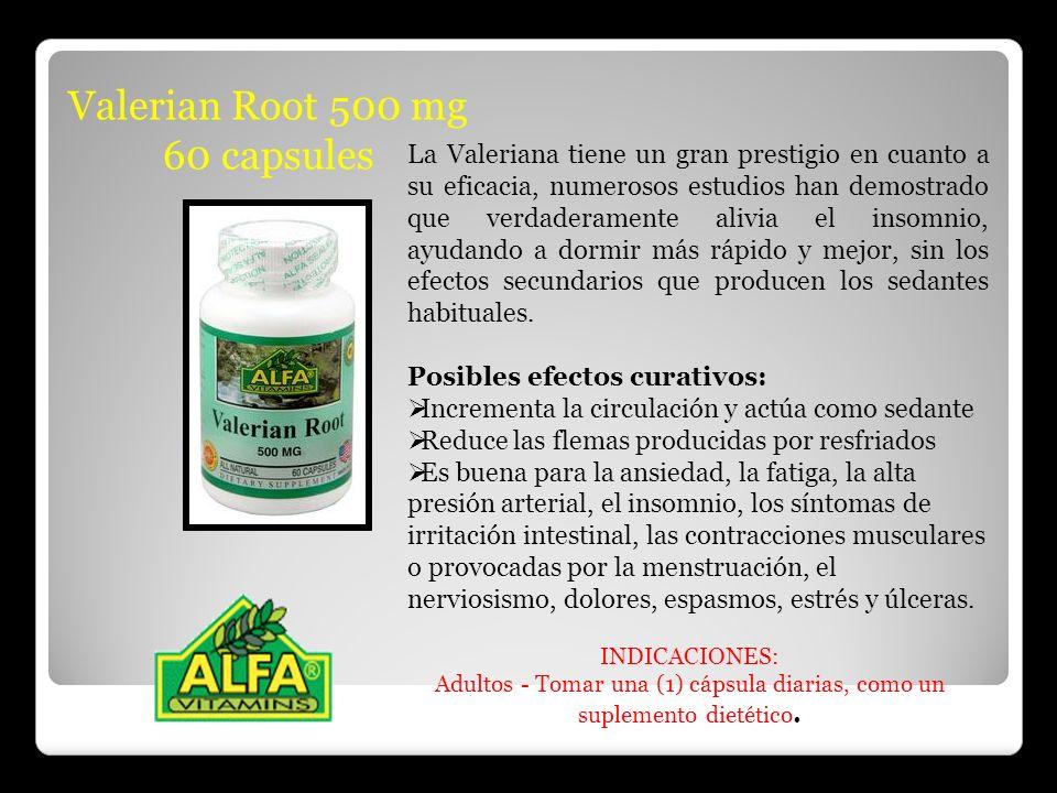 Valerian Root 500 mg 60 capsules