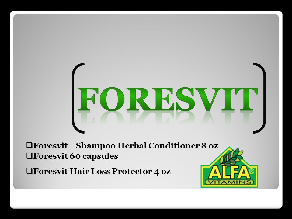 Foresvit Foresvit Shampoo Herbal Conditioner 8 oz Foresvit 60 capsules