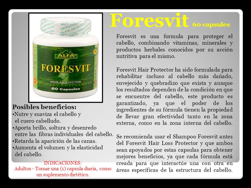 Foresvit 60 capsules Posibles beneficios: