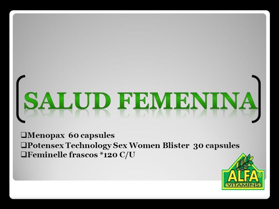 Salud femenina Menopax 60 capsules