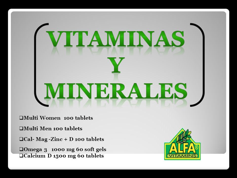 Vitaminas y minerales Multi Women 100 tablets Multi Men 100 tablets