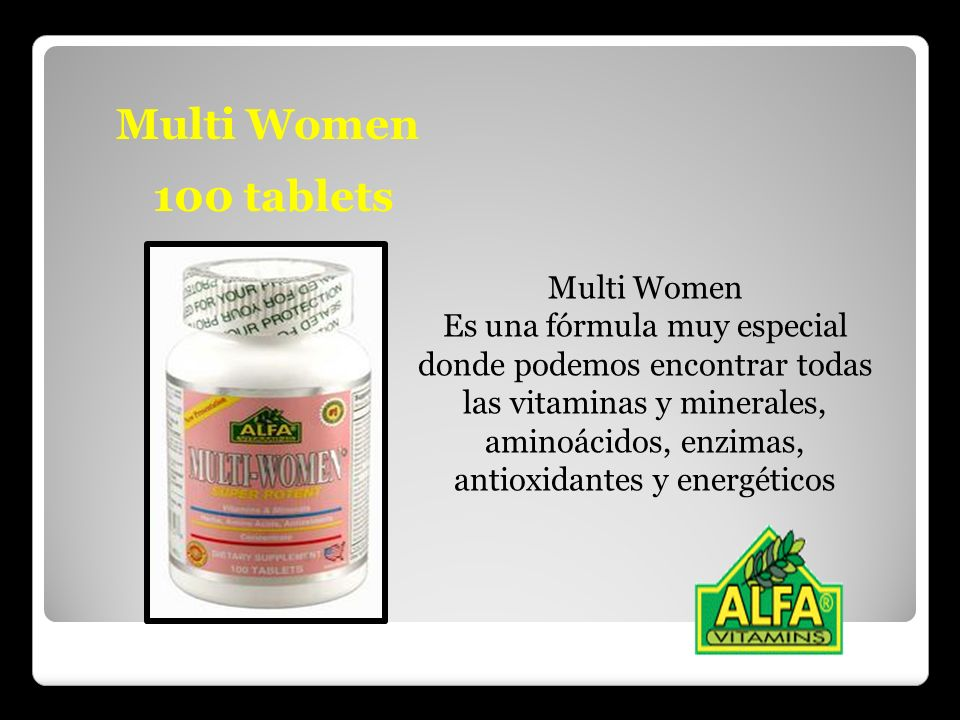 Multi Women 100 tablets Multi Women