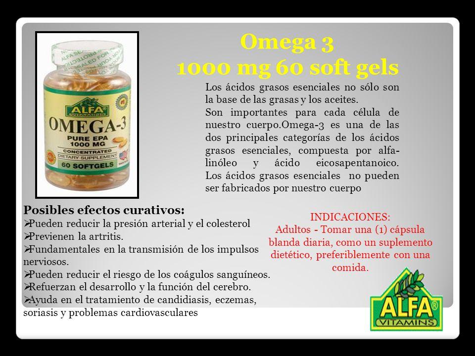Omega 3 1000 mg 60 soft gels Posibles efectos curativos: