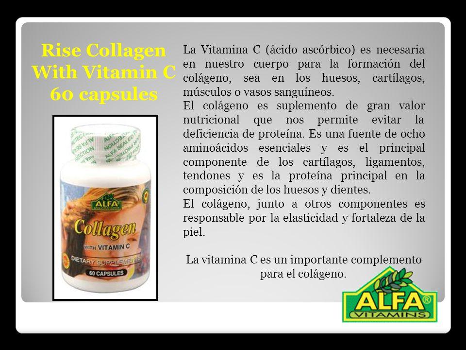 La vitamina C es un importante complemento para el colágeno.
