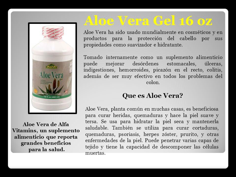 Aloe Vera Gel 16 oz Que es Aloe Vera