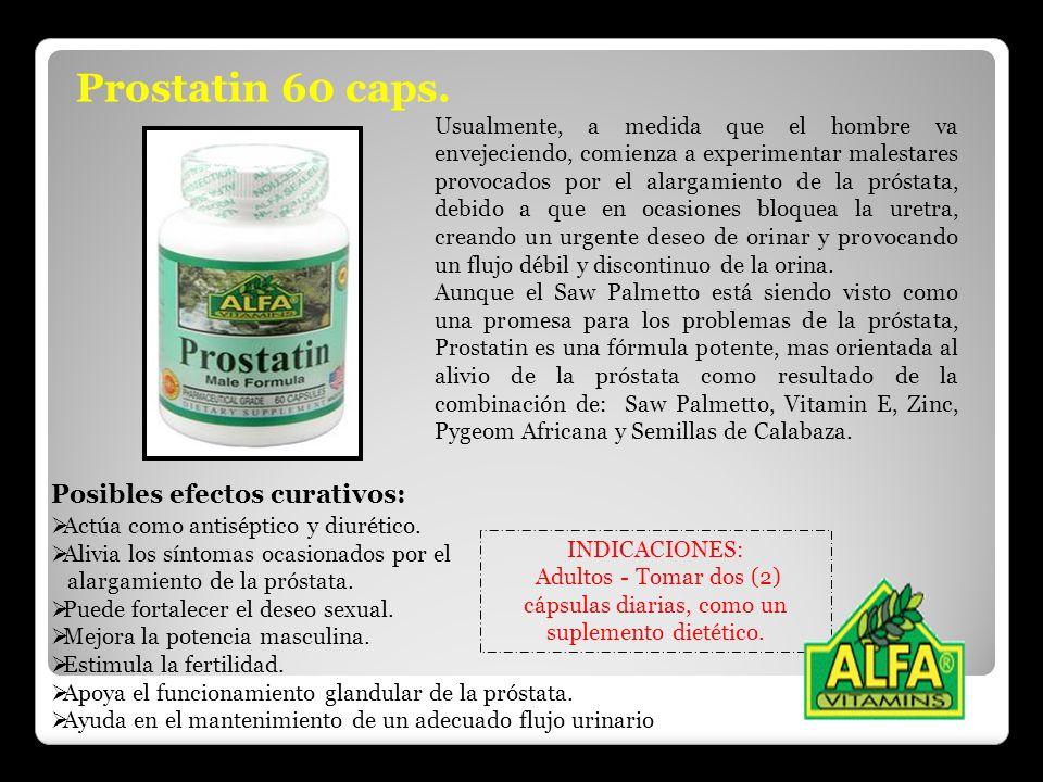 Prostatin 60 caps. Posibles efectos curativos: