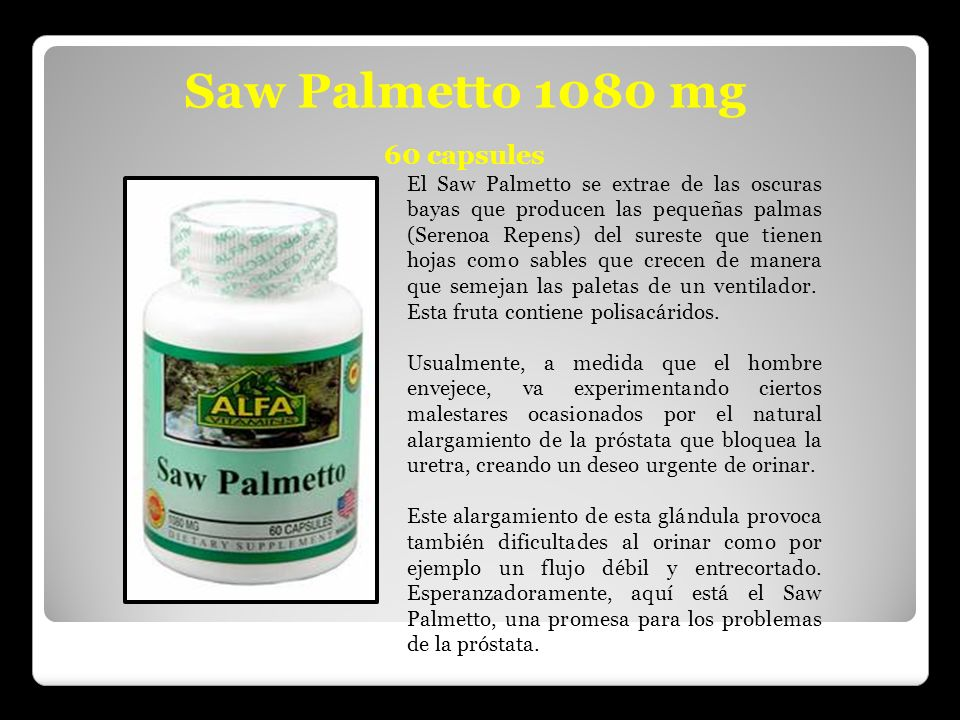 Saw Palmetto 1080 mg 60 capsules